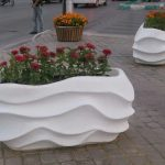 گلدان های مستطیلی شکل فایبرگلاس