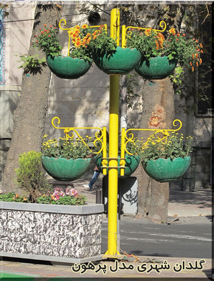 گلدان های شهری فایبرگلاس